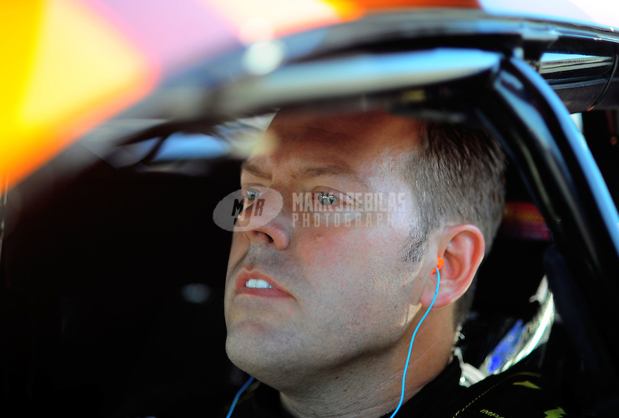 Jul. 17, 2010; Sonoma, CA, USA; NHRA pro stock driver Jason Line during qualifying for the Fram Autolite Nationals at Infineon Raceway. Mandatory Credit: Mark J. Rebilas-