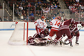 Ryan Wischow (UMass - 1), Jake McLaughlin (UMass - 28), Kieffer Bellows (BU - 9), Bobo Carpenter (BU - 14), Marc Hetnik (UMass - 4), Steven Iacobellis (UMass - 16) - The Boston University Terriers defeated the University of Massachusetts Minutemen 3-1 on Friday, February 3, 2017, at Agganis Arena in Boston, Massachusetts.The Boston University Terriers defeated the visiting University of Massachusetts Amherst Minutemen 3-1 on Friday, February 3, 2017, at Agganis Arena in Boston, MA.
