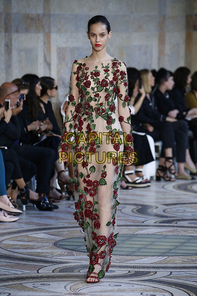 GIAMBATTISTA VALLI fashion show<br /> HAUTE COUTURE Fall/Winter 17/18<br /> at Paris Fashion Week in France on  July 04, 2017.<br /> CAP/GOL<br /> &copy;GOL/Capital Pictures
