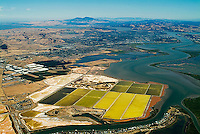 aerial photograph salt ponds Napa County, California