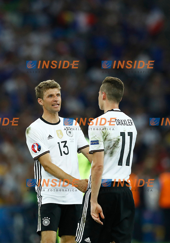 Thomas Muller and Julian Draxler (Germany) <br /> Marseille 07-07-2016 Stade Velodrome Football Euro2016 Germany - France / Germania - Francia Semi-finals / Semifinali <br /> Foto Matteo Ciambelli / Insidefoto