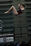 INDIANAPOLIS, IN - MARCH 18: Abigail Knapton of Nebraska dives in the platform diving event during the Division I Women's Swimming & Diving Championships held at the Indiana University Natatorium on March 18, 2017 in Indianapolis, Indiana. (Photo by A.J. Mast/NCAA Photos via Getty Images)