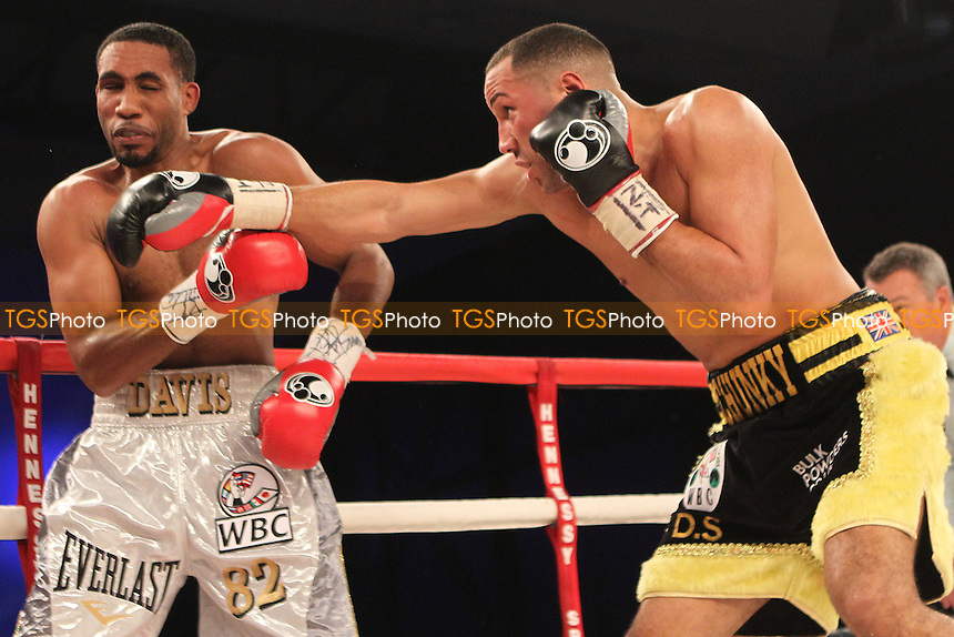 James DeGale vs Dyah Davis in a boxing contest at Glow, Bluewater, Kent, promoted by Hennessy Sports - 16/11/13 - MANDATORY CREDIT: Chris Royle/TGSPHOTO - Self billing applies where appropriate - 0845 094 6026 - contact@tgsphoto.co.uk - NO UNPAID USE