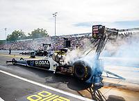 Sep 22, 2017; Mohnton, PA, USA; NHRA top fuel driver Shawn Langdon during the Dodge NHRA Nationals at Maple Grove Raceway. Mandatory Credit: Mark J. Rebilas-USA TODAY Sports