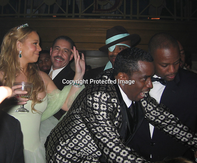 Mariah Carey, Sean P. Diddy Combs with Slick Rick<br />