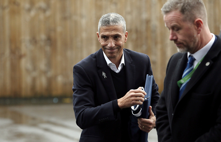 Brighton & Hove Albion manager Chris Hughton arrives at Turf Moor ahead of kick-off<br /> <br /> Photographer Rich Linley/CameraSport<br /> <br /> The Premier League - Burnley v Brighton and Hove Albion - Saturday 8th December 2018 - Turf Moor - Burnley<br /> <br /> World Copyright © 2018 CameraSport. All rights reserved. 43 Linden Ave. Countesthorpe. Leicester. England. LE8 5PG - Tel: +44 (0) 116 277 4147 - admin@camerasport.com - www.camerasport.com