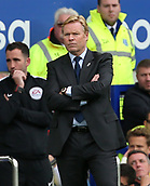 1st October 2017, Goodison Park, Liverpool, England; EPL Premier League Football, Everton versus Burnley; Ronald Koeman, manager of Everton purses his lips as Everton trail 0-1 late in the second half
