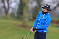 Ema Dobiasova (Slovenia) on the 1st tee during Round 1 of the Irish Girls U18 Open Stroke Play Championship at Roganstown Golf &amp; Country Club, Dublin, Ireland. 05/04/19 <br /> Picture:  Thos Caffrey / www.golffile.ie