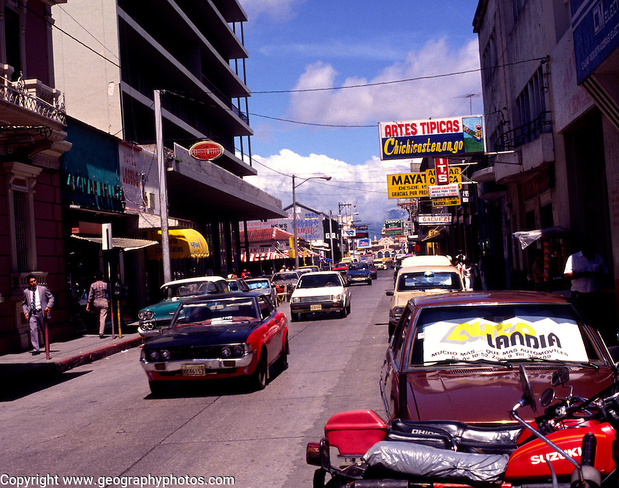 City centre, Guatemala City, Guatemala, central America, 1991