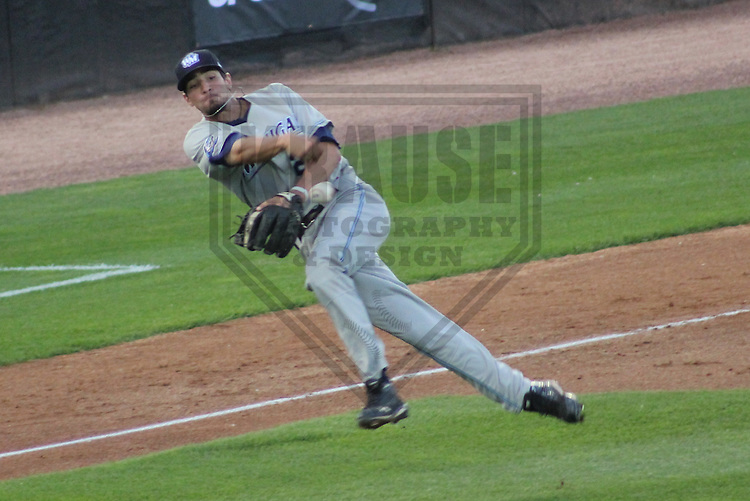APPLETON - JULY 2011: Nick Castellanos (29) of the West Michigan WhiteCaps, Class-A affiliate of the Detroit Tigers during a game on July 13, 2011 at Time Warner Cable Field at Fox Cities Stadium in Appleton, Wisconsin. (Photo by Brad Krause)