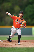 Baltimore Orioles Jason Garcia (21) during a minor league Spring Training intrasquad game on April 2, 2016 at Buck O'Neil Complex in Sarasota, Florida.  (Mike Janes/Four Seam Images)