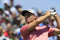Bradley Dredge (WAL) tees off the 1st tee to start his match during Friday's Round 2 of the 117th U.S. Open Championship 2017 held at Erin Hills, Erin, Wisconsin, USA. 16th June 2017.<br /> Picture: Eoin Clarke | Golffile<br /> <br /> <br /> All photos usage must carry mandatory copyright credit (&copy; Golffile | Eoin Clarke)