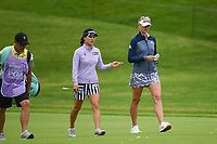 So Yeon Ryu (KOR) chats with Jessica Korda (USA) as they head down 2 during the round 2 of the KPMG Women's PGA Championship, Hazeltine National, Chaska, Minnesota, USA. 6/21/2019.<br /> Picture: Golffile | Ken Murray<br /> <br /> <br /> All photo usage must carry mandatory copyright credit (© Golffile | Ken Murray)