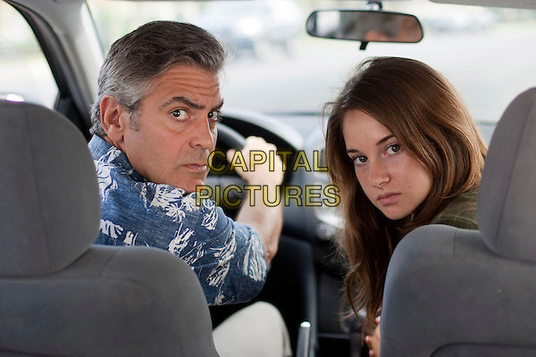 George Clooney & Shailene Woodley .in The Descendants.*Filmstill - Editorial Use Only*.CAP/NFS.Supplied by Capital Pictures.