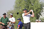 Robert Karlsson teeing off on the second.on day one of the Dubai World Championship on the Earth Course at the Jumeirah Golf Estate, Dubai..Picture Fran Caffrey/www.golffile.ie.