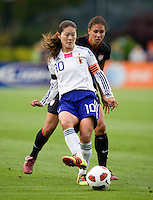 Homare Sawa, Shannon Boxx. The USWNT defeated Japan, 2-0,  at WakeMed Soccer Park in Cary, NC.
