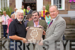 Tralee tidy towns volunteers celebrate the Entente Florale gold award on Tuesday, in front are Johnny Wall, Chairman towards a better Tralee, Peter Colleran, Tobar Naofa and Jim Finucane Mayor of Tralee, .