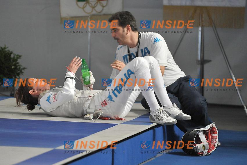 ERRIGO Arianna(ITA) vs CERIONI Stefano CT ITALIA 18.06.2012 .European Fencing Championships 2012.Campionati Europei Scherma.Foto Giovanni Minozzi / Insidefoto