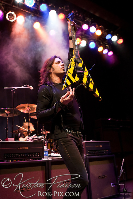 Stryper performing at Showcase Live in Foxboro on March 26