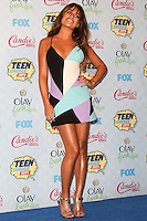 LOS ANGELES, CA, USA - AUGUST 10: Lea Michele poses in the press room during the Teen Choice Awards 2014 held at The Shrine Auditorium on August 10, 2014 in Los Angeles, California, United States. (Photo by Celebrity Monitor)