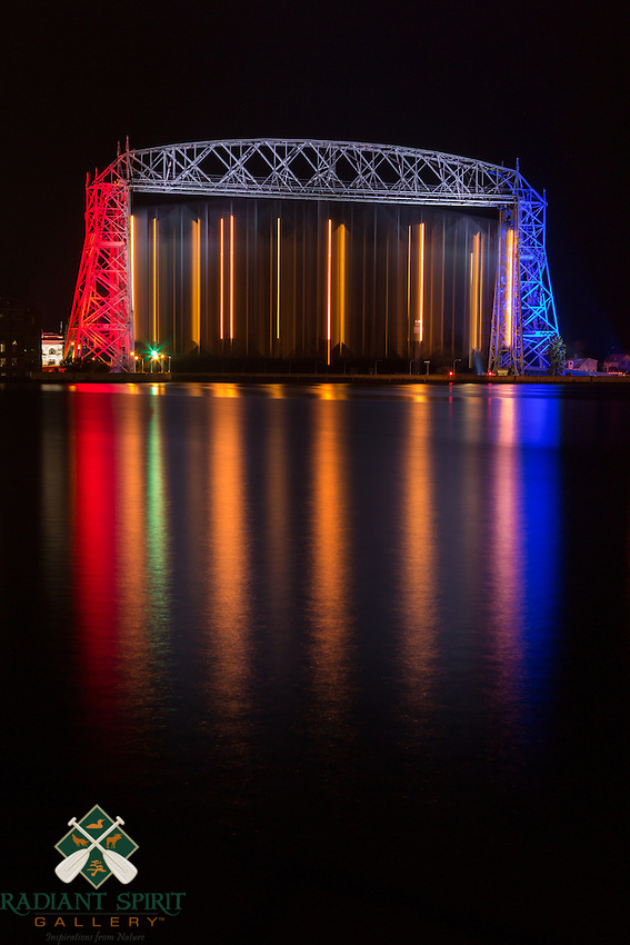 &quot;Stars and Stripes - Aerial Lift Bridge&quot;<br />