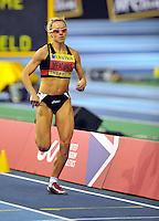 Photo: Paul Greenwood/Richard Lane Photography. Aviva World Trials & UK Championships. 14/02/2010. .Jenny Meadows wins the Womens 800m.