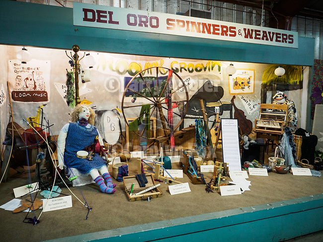 Dl Oro Spinners and Weavers booth. The 79th Amador County Fair, Plymouth, Calif.<br /> <br /> <br /> #AmadorCountyFair, #PlymouthCalifornia,<br /> #TourAmador, #VisitAmador,