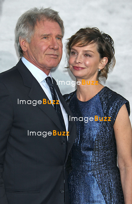 "Harrison Ford & Calista Flockhart during the premiere of the new movie from Warner Bros. "" Pictures 42 "", held at Grauman's Chinese Theatre, on April 9, 2013, in Los Angeles"