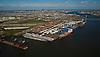 Aerial view of the Port of Philadelphia