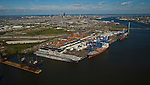 Aerial view of the Port of Philadelphia