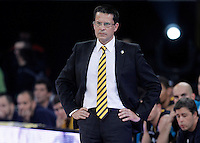 Herbalife Gran Canaria's coach Pedro Martinez during Spanish Basketball King's Cup semifinal match.February 07,2013. (ALTERPHOTOS/Acero) /NortePhoto