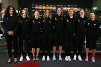 23.05.2019 Silver Ferns assistant coach Debbie Fuller, Silver Ferns : Jane Watson, Shannon Saunders, Phoenix Kararka, Te Paea Selby-Rickit, Casey Kopua, Katrina Rore and Gina Crampton during the Silver Ferns squad announcement ahead of the Netball World Cup 2019 at the ILT Stadium in Invercargill. Mandatory Photo Credit Copyright photo: Dianne Manson/Michael Bradley Photography