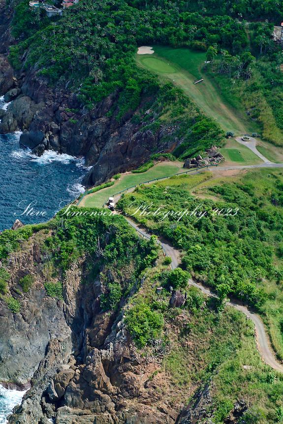 Aerial view of Devil's Triangle<br /> Mahogany Run Golf Course<br /> St. Thomas<br /> U.S. Virgin Islands