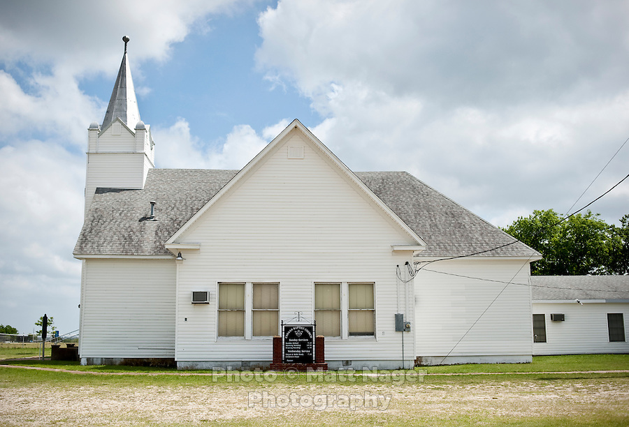 The Canaan Baptist Church where President George W. Bush continues to frequent outside Crawford, Texas, US, Wednesday, April 14, 2010. The town was nicknamed the Western White House by President George W. Bush because of frequent visits and his ranch...PHOTO/ MATT NAGER