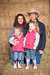 Families gather after Christmas at the Cuneo Ranch in California's Mother Lode, Deirdre and Bert with their daughters Dottie and Della