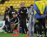 Officials watch from the sideline during the Super Rugby match between the Hurricanes and Western Force at Westpac Stadium, Wellington, New Zealand on Friday, 19 April 2013. Photo: Dave Lintott / lintottphoto.co.nz