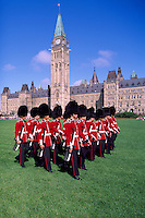 Parliament Buildings on Parliament Hill, Ottawa, ON, Canada - Changing of the Guard Ceremony