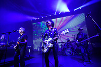 LONDON, ENGLAND - JUNE 8: Steve Hillage, Kavus Torabi and Dave Sturt of 'The Steve Hillage Band' performing at Shepherd's Bush Empire on June 8, 2019 in London, England.<br /> CAP/MAR<br /> ©MAR/Capital Pictures