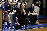 08 January 2015: Duke head coach Joanne P. McCallie. The Duke University Blue Devils hosted the Syracuse University Orange at Cameron Indoor Stadium in Durham, North Carolina in a 2014-15 NCAA Division I Women's Basketball game. Duke won the game 74-72.