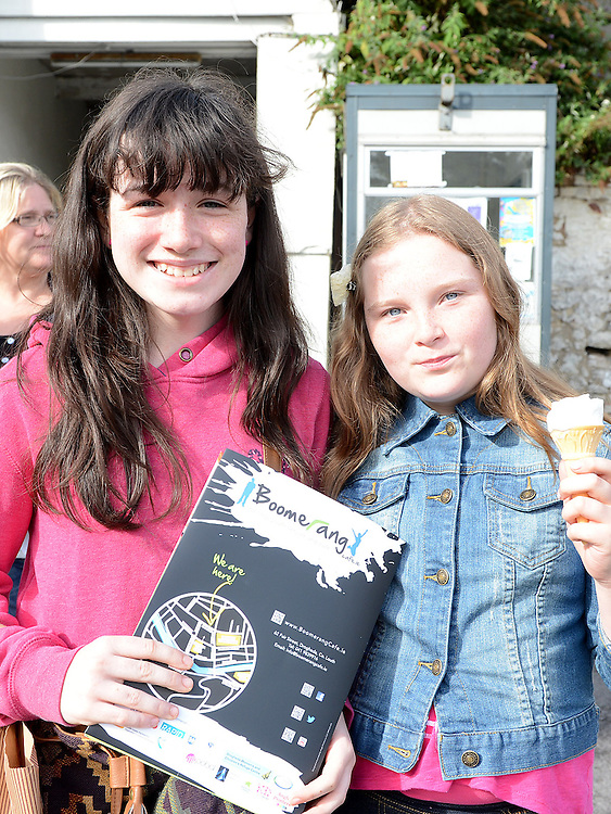 Aoife Finn Gallagher and Freya McGrath pictured at the opening of the Boomerang Cafe. Photo:Colin Bell/pressphotos.ie
