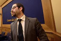 Roma, 27 Gennaio 2015.<br /> Marco Baldassarre.<br /> Conferenza stampa alla Camera dei Deputati dei 9 Parlamentari usciti dal Movimento 5 Stelle.