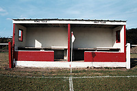 Dugouts at Didcot Town FC Football Ground, Station Road, Didcot, Oxfordshire, pictured on 30th August 1993