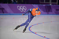 OLYMPIC GAMES: PYEONGCHANG: 14-02-2018, Gangneung Oval, Long Track, 10.000m Men, Jorrit Bergsma (NED), ©photo Martin de Jong