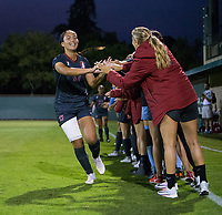 STANFORD, CA - August 24, 2018: Sam Hiatt at Laird Q. Cagan Stadium. The Stanford Cardinal defeated the USF Dons 5-1.