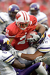 MADISON, WI - SEPTEMBER 9: Running back Dywon Rowan #21 of the Wisconsin Badgers carries the ball against the Western Illinois Leathernecks at Camp Randall Stadium on September 9, 2006 in Madison, Wisconsin. The Badgers beat the Leathernecks 34-10. (Photo by David Stluka)