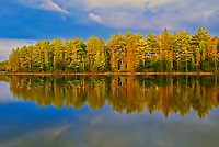 Mew Lake at sunset, Algonquin Provincial Park, Ontario, Canada