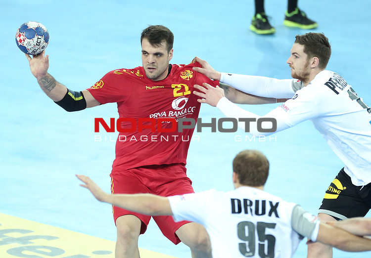 13.01.2018., Croatia, Arena Zagreb, Zagreb - European Handball Championship, Group C, Round 1, Germany - Montenegro.  SEVALJEVIC Vasko<br /> <br /> Foto &copy; nordphoto / Sanjin Strukic/PIXSELL
