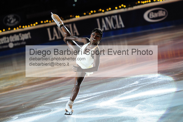 2012.01.01 Surya Bonaly exhibits at Capodanno on Ice, ice figure skating gala at Palavela in Turin, Italy<br /> <br /> Editorial use only
