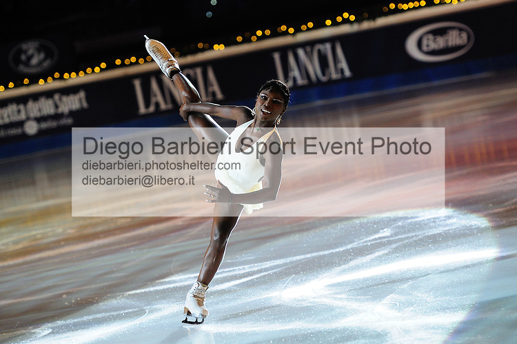 2012.01.01 Surya Bonaly exhibits at Capodanno on Ice, ice figure skating gala at Palavela in Turin, Italy<br />