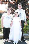 Hayley Matthews at the Marymount Communion with Geraldine and Christopher...Photo NEWSFILE/Jenny Matthews.(Photo credit should read Jenny Matthews/NEWSFILE)....This Picture has been sent you under the condtions enclosed by:.Newsfile Ltd..The Studio,.Millmount Abbey,.Drogheda,.Co Meath..Ireland..Tel: +353(0)41-9871240.Fax: +353(0)41-9871260.GSM: +353(0)86-2500958.email: pictures@newsfile.ie.www.newsfile.ie.FTP: 193.120.102.198.